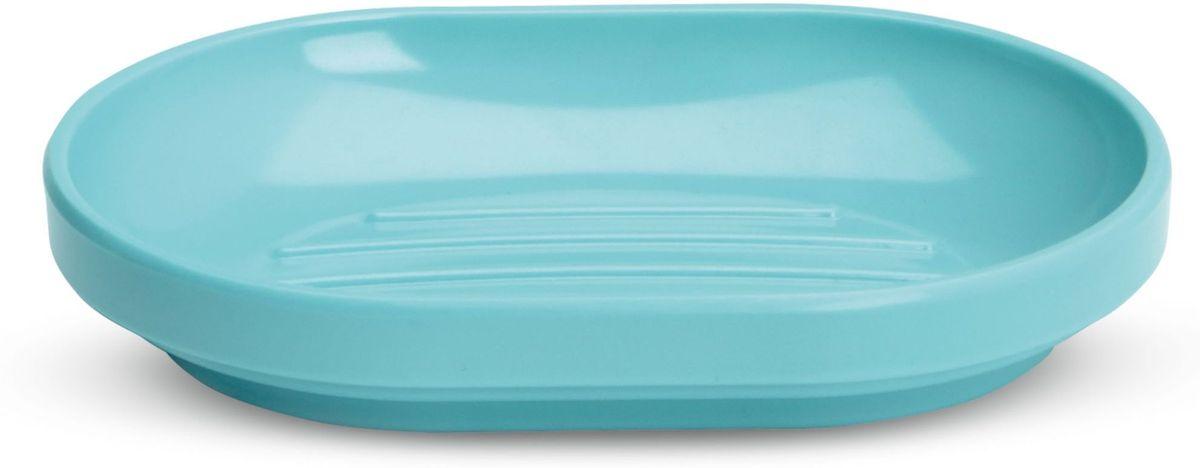 Мыльница Umbra Step, цвет: морская волна, 2,3 х 14,6 х 10,3 смCLP446Функциональность мыльницы неоспорима - именно она защищает нашу раковину от мыльных подтеков и пятен. А как насчет дизайна? В Umbra уверены: такой простой и ежедневно используемый предмет должен выглядеть лаконично, но необычно. Ведь в небольшой ванной комнате не должно быть ничего вызывающе яркого. Немного экспериментировав с формой, дизайнеры создали мыльницу Step, которая придется кстати в любом доме!