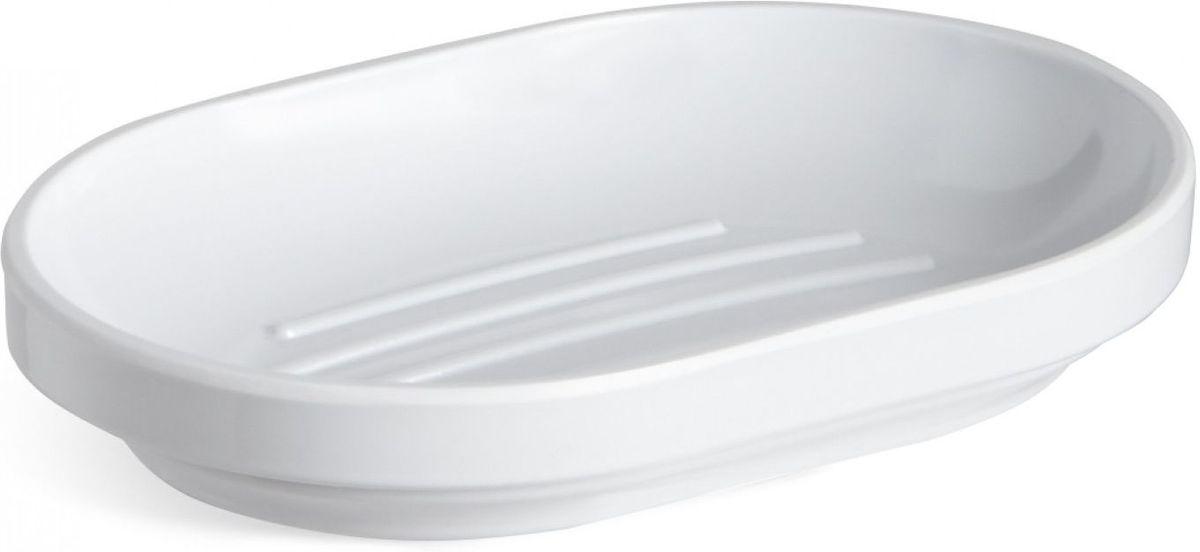 Мыльница Umbra Step, цвет: белый, 2,5 х 14,6 х 10,2 см68/5/1Функциональность мыльницы неоспорима - именно она защищает нашу раковину от мыльных подтеков и пятен. А как насчет дизайна? В Umbra уверены: такой простой и ежедневно используемый предмет должен выглядеть лаконично, но необычно. Ведь в небольшой ванной комнате не должно быть ничего вызывающе яркого. Немного экспериментировав с формой, дизайнеры создали мыльницу Step, которая придется кстати в любом доме!