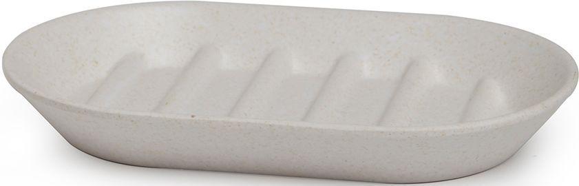 Мыльница Umbra Fiboo, цвет: экрю, 1,9 х 14,9 х 9,4 см531-401Эта практичная мыльница изготовлена из комбинированного материала (меламин и бамбуковое волокно), который отличает экологичность, износостойкость и уникальный матовый эффект. Ребристая поверхность позволит мылу быстро высохнуть.Дизайн: Wesley Chau