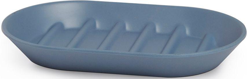 Мыльница Umbra Fiboo, цвет: дымчато-синий, 1,9 х 14,9 х 9,4 см мыльница fiboo экрю 1125829