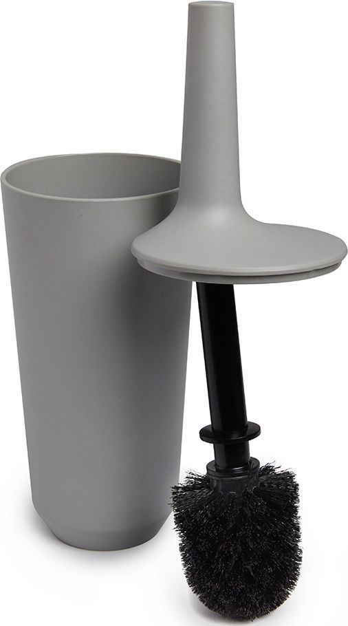 Ершик туалетный Umbra Fiboo, цвет: серый, 39,8 х 11,8 х 11,8 см3520Этот нужный предмет изготовлен из комбинированного материала (меламин и бамбуковое волокно), который отличает экологичность, износостойкость и уникальный матовый эффект. Благодаря лаконичному дизайну будет гармонично смотреться в любой ванной комнате.Удобен в использовании благодаря эргономичной конструкции.Дизайн: Wesley Chau
