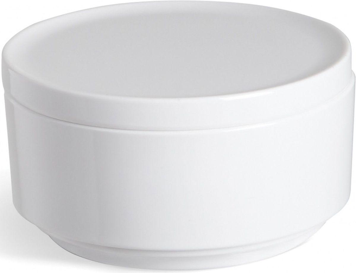 Контейнер для хранения Umbra Step, цвет: белый, 7,1 х 12,7 х 12,7 смRG-D31SНевероятно аккуратный и удобный контейнер из литого меламина для хранения ватных дисков и других мелочей в ванной. Блангодаря крышке, ватные диски не намокнут и не покроются пылью.Сочетается с другими аксессуарами из коллекции STEP Дизайнер Umbra Studio