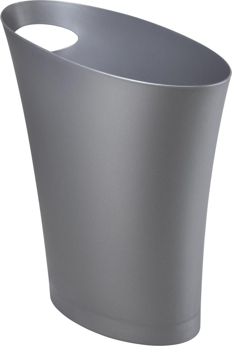 Контейнер мусорный Umbra Skinny, цвет: серебристый, 34 х 33 х 17 смPARIS 75015-8C ANTIQUEОчередное изобретение Карима Рашида, одного из самых известных промышленных дизайнеров. Оригинальный замысел и функциональный подход обеспечены!Привычные мусорные корзины в виде старых ведер из-под краски или ненужных коробок давно в прошлом. Каждый элемент в современном доме должен иметь определенный смысл, быть креативным и удобным. Вплоть до мусорного ведра. Несмотря на кажущийся миниатюрный размер, ведро вмещает до 7,5 литров, а ручка в виде отверстия на верхней части ведра удобна при переноске.