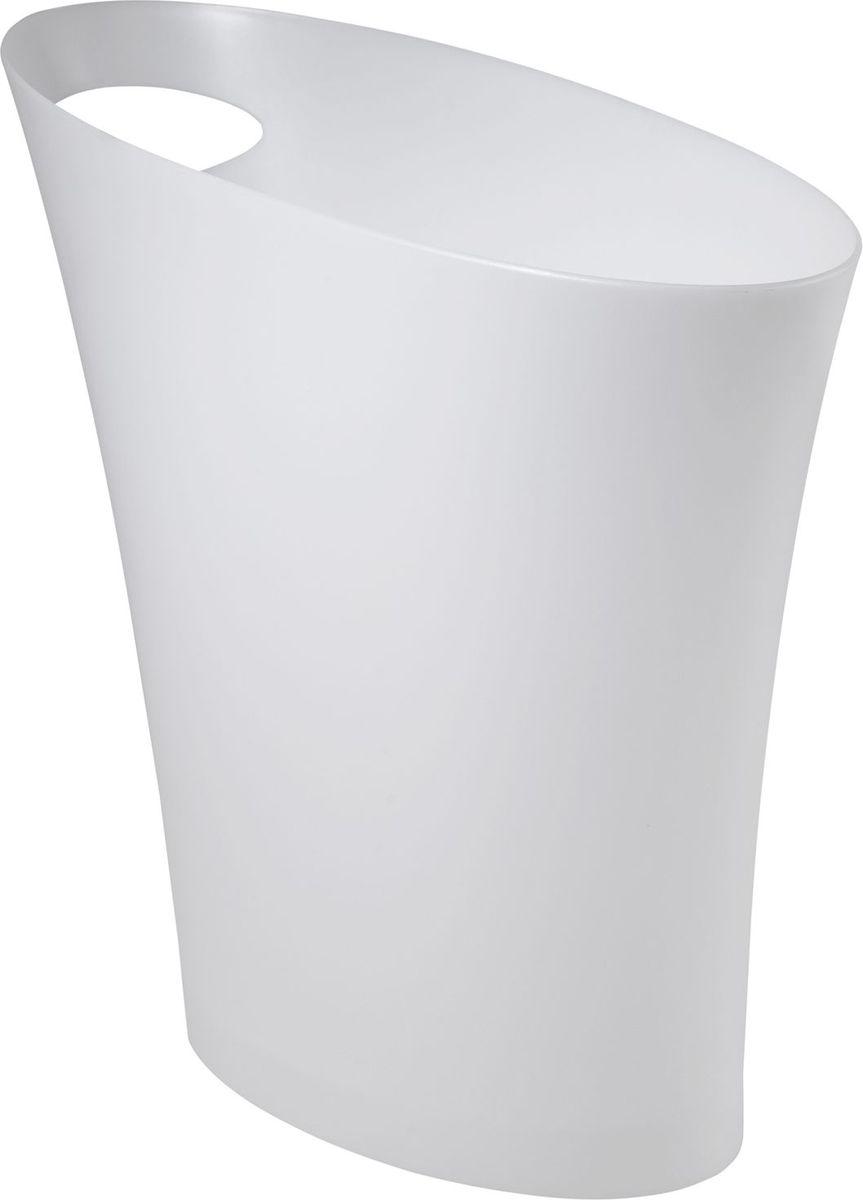 Контейнер мусорный Umbra Skinny, цвет: металлик, 34 х 33 х 17 см68/5/1Очередное изобретение Карима Рашида, одного из самых известных промышленных дизайнеров. Оригинальный замысел и функциональный подход обеспечены!Привычные мусорные корзины в виде старых ведер из-под краски или ненужных коробок давно в прошлом. Каждый элемент в современном доме должен иметь определенный смысл, быть креативным и удобным. Вплоть до мусорного ведра. Несмотря на кажущийся миниатюрный размер, ведро вмещает до 7,5 литров, а ручка в виде отверстия на верхней части ведра удобна при переноске.