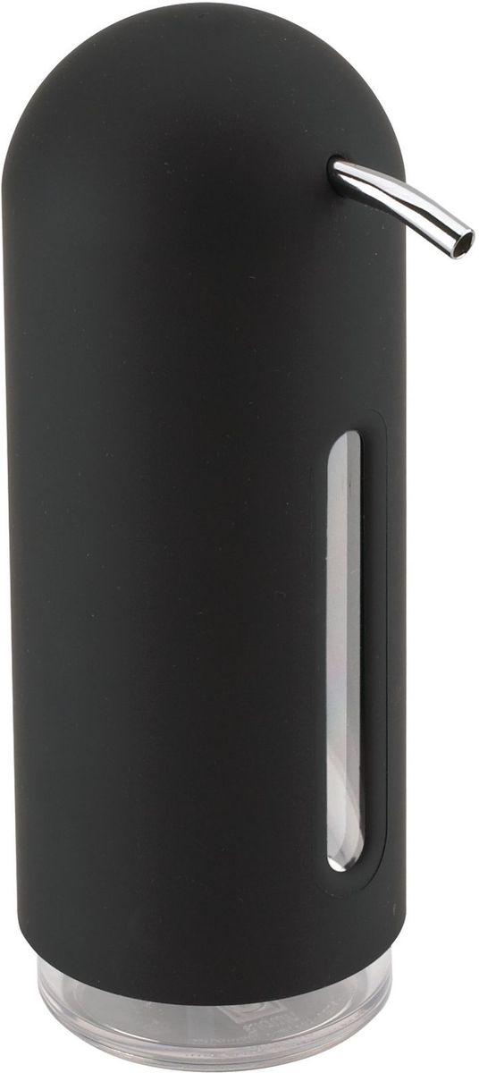 Диспенсер для жидкого мыла Umbra Penguin, цвет: черный, 19 х 6 х 6 смBL505Мыло душистое, полотенце пушистое - если мыть руки, то с этим слоганом. Потому что приятно пахнущее мыло, например, ванильное или земляничное, поднимает настроение. А если оно внутри красивого диспенсера, который поможет отмерить нужное количество, это вдвойне приятно. Те, кто покупает жидкое мыло, знают, что очень часто оно продается в некрасивых упаковках или очень больших бутылках, которые совершенно неудобно ставить на раковину. Проблема решена вот с таким лаконичным симпатичным диспенсером. Теперь вы не забудете вымыть руки перед едой! P.S. (Важная подсказка): диспенсер также можно использовать на кухне для моющего средства, получается очень экономно.