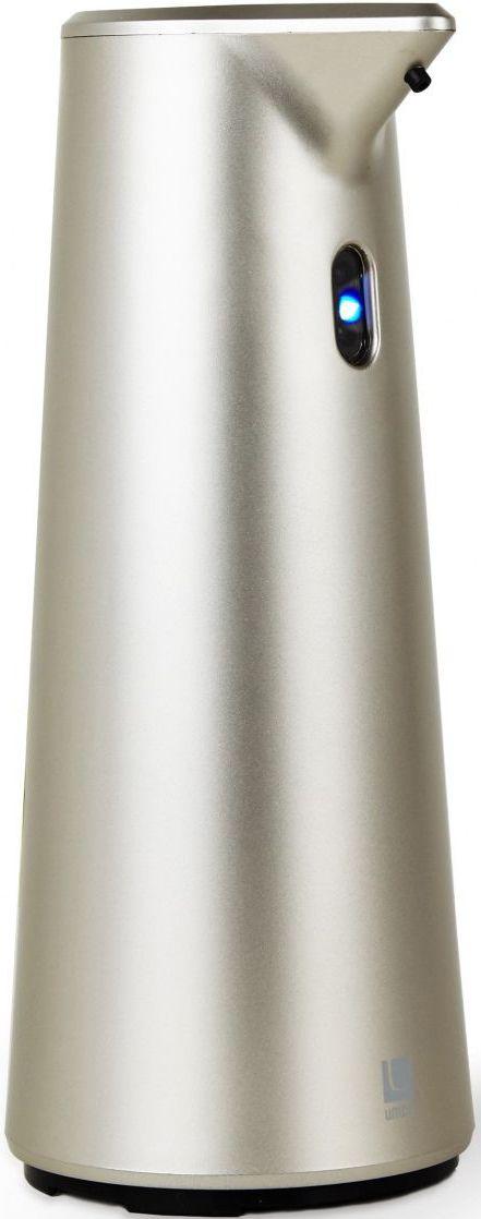 Диспенсер для мыла Umbra Finch, сенсорный, цвет: никель, 18,8 х 9,5 х 9,5 см68/5/1Диспенсер из литого пластика с автоматическим сенсорным дозатором. Для получения порции жидкого мыла, средства для мытья посуды или лосьона достаточно просто поднести к дозатору руки: жидкость будет подана автоматически. Широкое горлышко облегчает процесс наполнения емкости. Дозатор оснащен прозрачным окошком — индикатором уровня жидкости. Работает от 4 стандартных батареек AAA (не входят в комплект)Объём 295 млДизайн: Alan Wisniewski