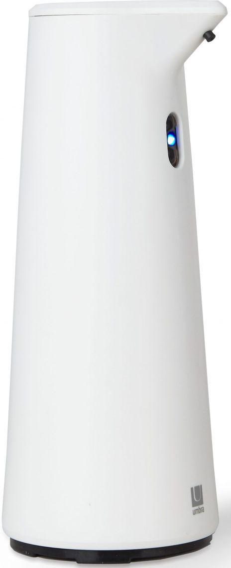 Диспенсер для мыла Umbra Finch, сенсорный, цвет: белый, 18,8 х 9,5 х 9,5 см8290032Диспенсер из литого пластика с автоматическим сенсорным дозатором. Для получения порции жидкого мыла, средства для мытья посуды или лосьона достаточно просто поднести к дозатору руки: жидкость будет подана автоматически. Широкое горлышко облегчает процесс наполнения емкости. Дозатор оснащен прозрачным окошком — индикатором уровня жидкости. Работает от 4 стандартных батареек AAA (не входят в комплект)Объём 295 млДизайн: Alan Wisniewski