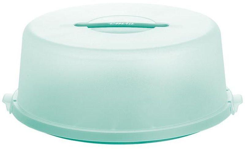 Контейнер для торта Emsa Basic, цвет: зеленый, диаметр 33 см740463Контейнер для торта Emsa Basic предназначен для хранения и транспортировки тортов либо других кондитерских изделий. Прочные защелки могут гарантировать, что торт или любимые пирожные не упадут на пол. Контейнер изготовлен из высококачественного пластика, который экологически безопасен для человека. Контейнер для переноски торта представляет собой очень удобную конструкцию.Воспользовавшись ею единожды, вы поймете, насколько это приятно и комфортно.