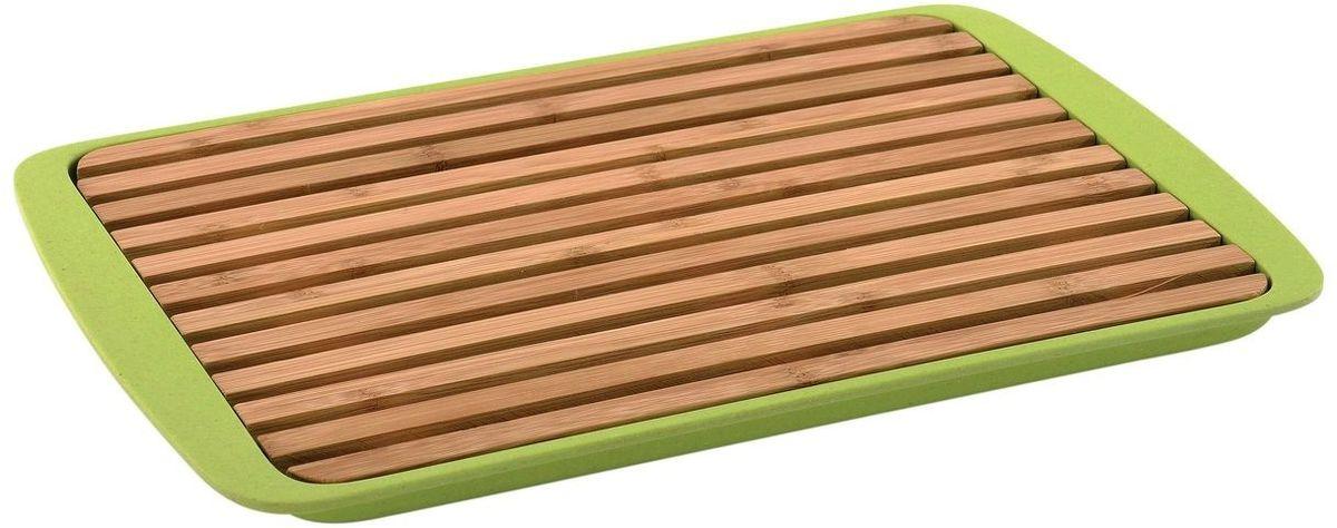 Доска для нарезки хлеба BergHOFF Cook&Co, 36 х 24 х 2 см54 009312Доска для нарезки хлеба BergHOFF Cook&Co данная доска выгодно отличается тем, что имеет поддон сделанный из бамбукового волокна и безопасного меламина, в котором скопятся все крошки с хлеба. Доска с поддоном прочная, стильная и яркая благодаря чему впишется в любой интерьер.Подходит для посудомоечной машины.