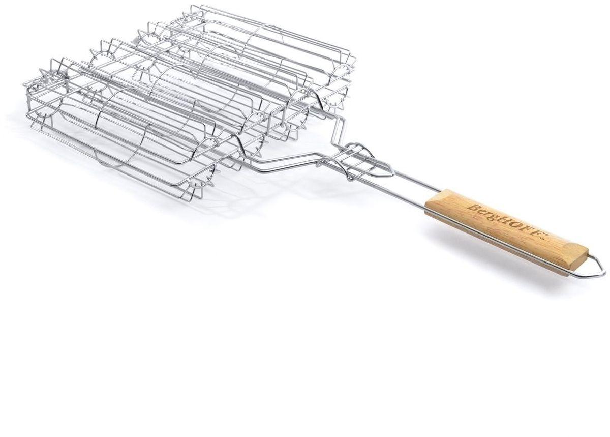 Решетка-гриль для овощей BergHOFF, 63 x 20,7 см4490304Решетка-гриль для овощей BergHOFF прекрасно подходит для приготовления на мангале или барбекю.Решетка выполнена из прочной стали, рукоятка из дерева.Размер: 63 х 20,7 см.