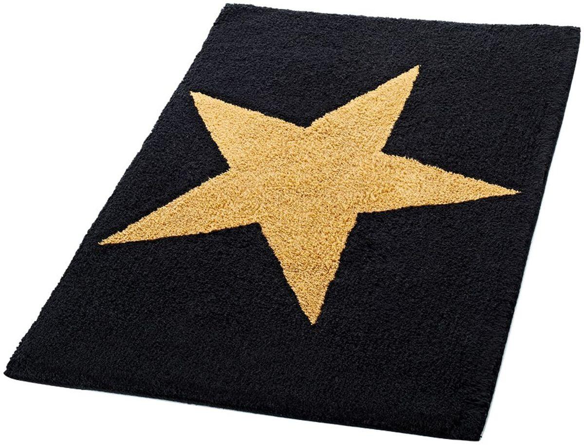 Коврик для ванной комнаты Ridder Star, цвет: черный, 60 х 90 см531-105Высококачественный коврик Ridder Star - подарок для ваших ножек. Состав: 100% микроволокно из акрила. Подложка: латекс. Стирать при щадящем режиме 30°С. Можно сушить в сушильной машине. Не подвергать химической чистке. Не гладить.