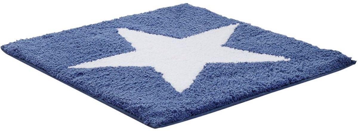 Коврик для ванной комнаты Ridder Star, цвет: синий, 50 х 55 см41619Высококачественный коврик Ridder Star - подарок для ваших ножек. Состав: 100% микроволокно из акрила. Подложка: латекс. Стирать при щадящем режиме 30°С. Можно сушить в сушильной машине. Не подвергать химической чистке. Не гладить.