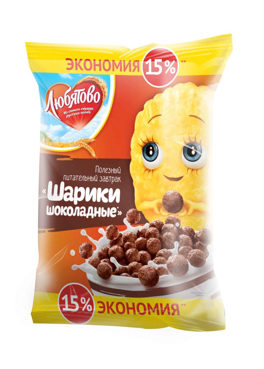 Любятово Готовый завтрак Шарики шоколадные, 350 г0120710Вкусное, полезное шоколадное лакомство для детей.