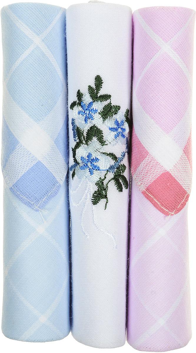 Платок носовой женский Zlata Korunka, цвет: голубой, белый, розовый, 3 шт. 40423-32. Размер 28 см х 28 см39864|Серьги с подвескамиНебольшой женский носовой платок Zlata Korunka изготовлен из высококачественного натурального хлопка, благодаря чему приятен в использовании, хорошо стирается, не садится и отлично впитывает влагу. Практичный и изящный носовой платок будет незаменим в повседневной жизни любого современного человека. Такой платок послужит стильным аксессуаром и подчеркнет ваше превосходное чувство вкуса.В комплекте 3 платка.