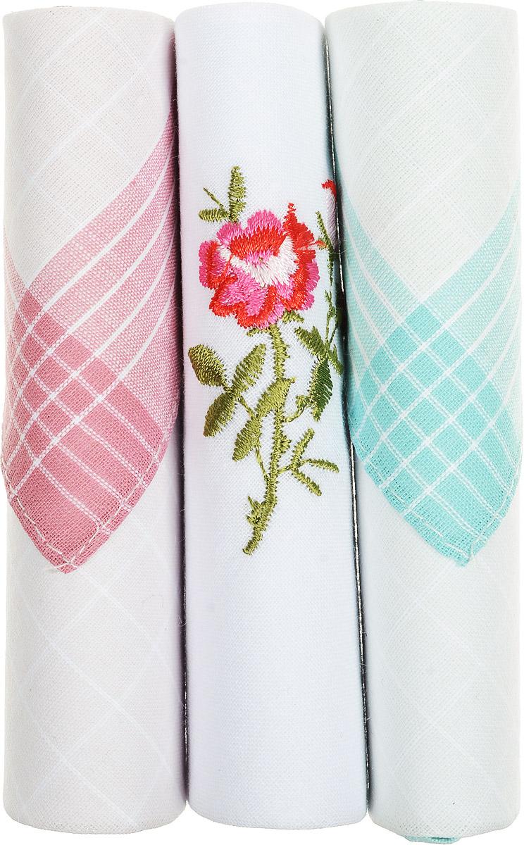 Платок носовой женский Zlata Korunka, цвет: розовый, белый, бирюзовый, 3 шт. 40423-89. Размер 28 см х 28 см39864|Серьги с подвескамиНебольшой женский носовой платок Zlata Korunka изготовлен из высококачественного натурального хлопка, благодаря чему приятен в использовании, хорошо стирается, не садится и отлично впитывает влагу. Практичный и изящный носовой платок будет незаменим в повседневной жизни любого современного человека. Такой платок послужит стильным аксессуаром и подчеркнет ваше превосходное чувство вкуса.В комплекте 3 платка.