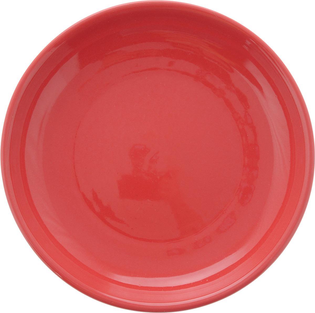 Тарелка Борисовская керамика Радуга, цвет: красный, диаметр 18 см115510Тарелка Борисовская керамика Радуга изготовлена из керамики. Изделие идеально подойдет для сервировки стола. Тарелка отлично впишется в любой интерьер современной кухни и станет отличным подарком для вас и ваших близких.Можно использовать в духовке и микроволновой печи.Диаметр тарелки: 18 см.Высота тарелки: 3 см.