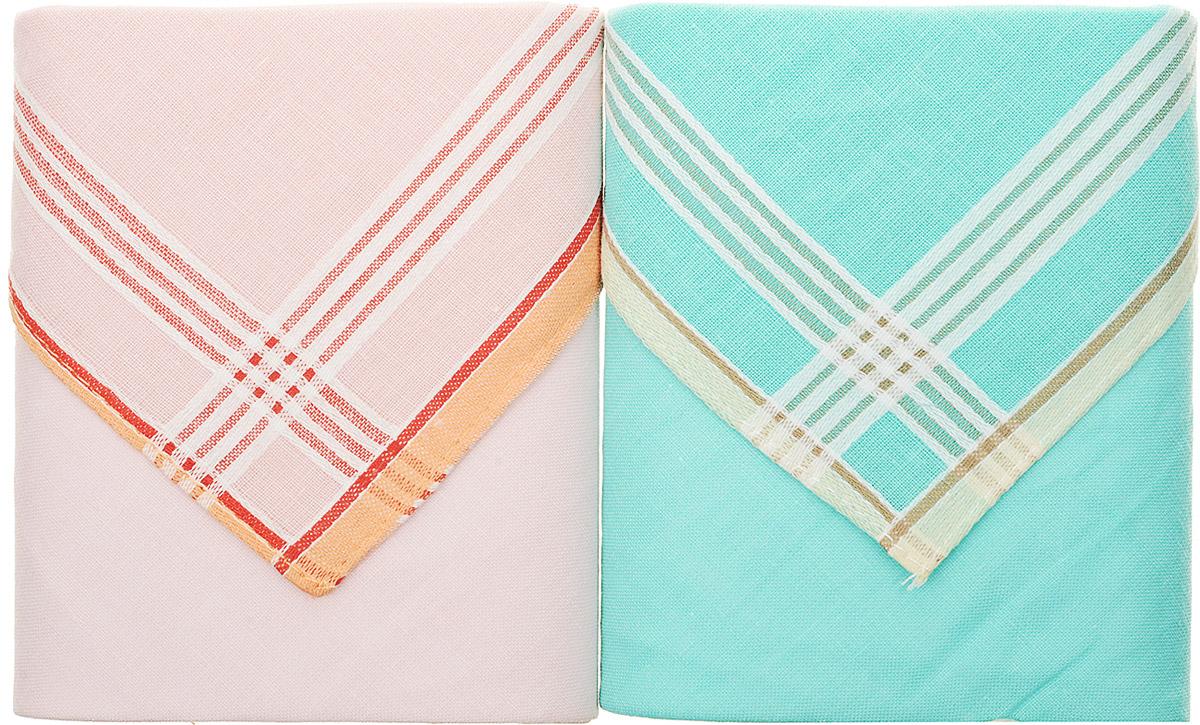 Платок носовой женский Zlata Korunka, цвет: розовый, бирюзовый, 2 шт. 90220-2. Размер 28 см х 28 смАжурная брошьОригинальный женский носовой платок Zlata Korunka изготовлен из высококачественного натурального хлопка, благодаря чему приятен в использовании, хорошо стирается, не садится и отлично впитывает влагу. Практичный и изящный носовой платок будет незаменим в повседневной жизни любого современного человека. Такой платок послужит стильным аксессуаром и подчеркнет ваше превосходное чувство вкуса.