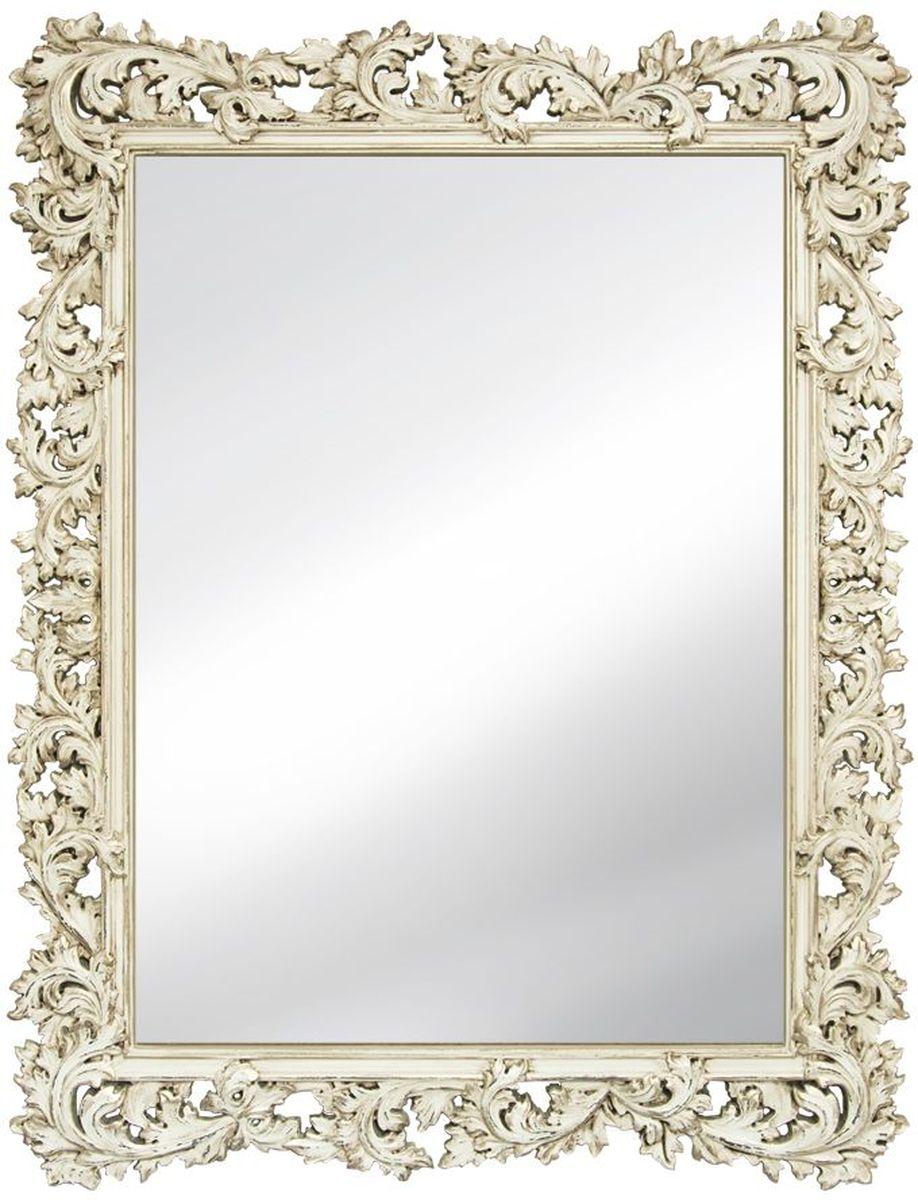 Зеркало VezzoLLi Алиана, цвет: слоновая кость, 88 х 115 см54 009312Рама зеркала выполнена в стиле шебби шик ( винтажный, с потертостями). Ручная работа. С обратной стороны зеркало снабжено тремя металлическими подвесами для возможности разместить его и вертикально и горизонтально. Ширина обрамления 15 см.