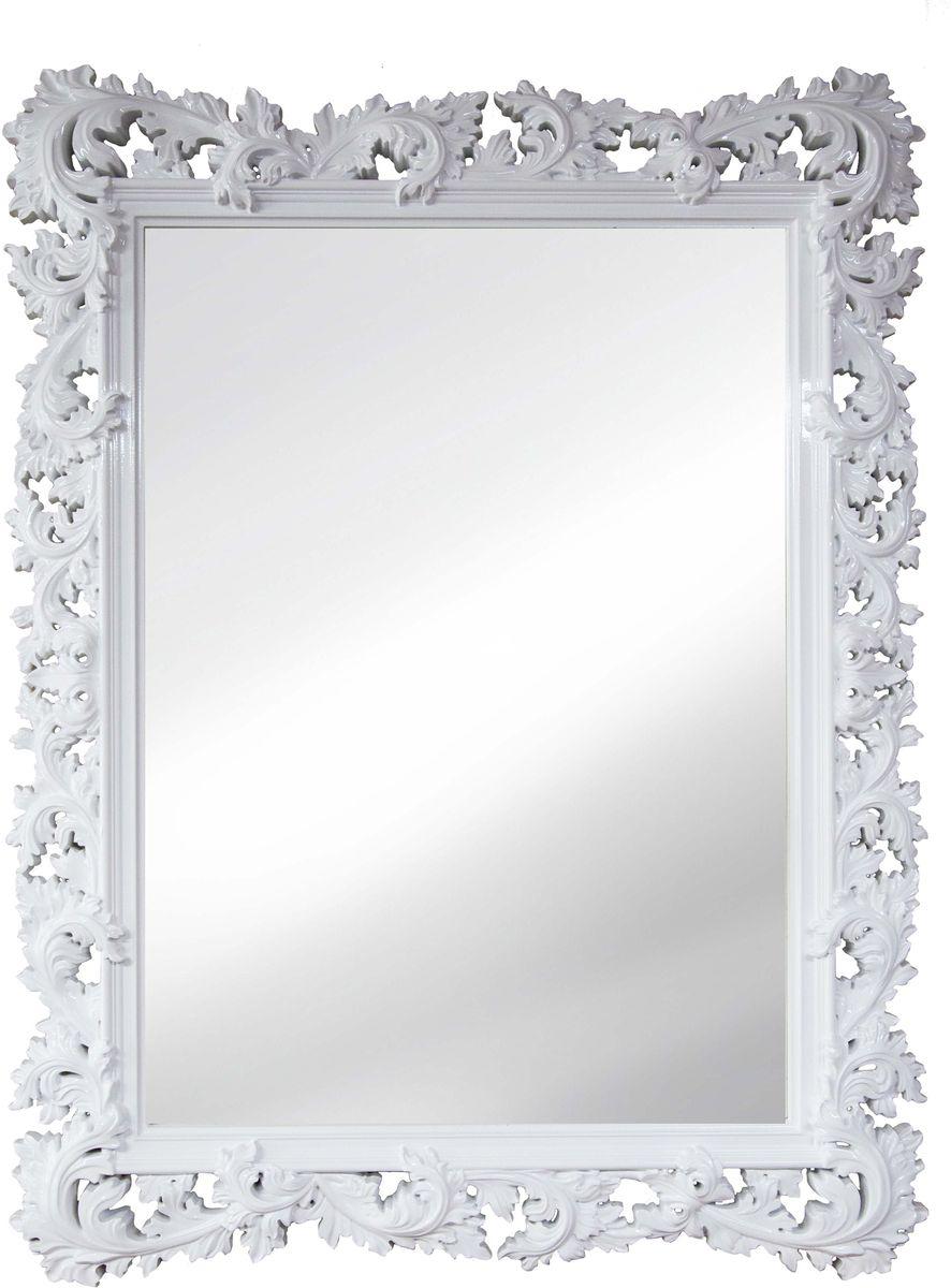 Зеркало VezzoLLi Алиана, цвет: белый, 88 х 115 см54 009312С обратной стороны зеркало снабжено тремя металлическими подвесами для возможности разместить его и вертикально и горизонтально. Ширина обрамления 15 см.
