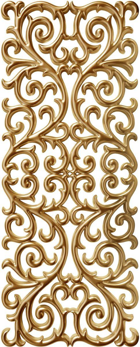 Панно декоративное VezzoLLi, цвет: золотой, 60 х 150 смRG-D31SС обратной стороны панно снабжено четырьмя металлическими подвесами для возможности разместить его и вертикально и горизонтально.
