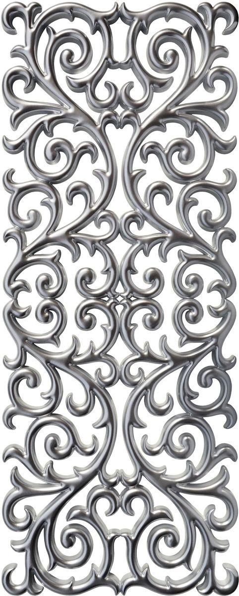 Панно декоративное VezzoLLi, цвет: серый металлик, 60 х 150 см25051 7_желтыйС обратной стороны панно снабжено четырьмя металлическими подвесами для возможности разместить его и вертикально и горизонтально.