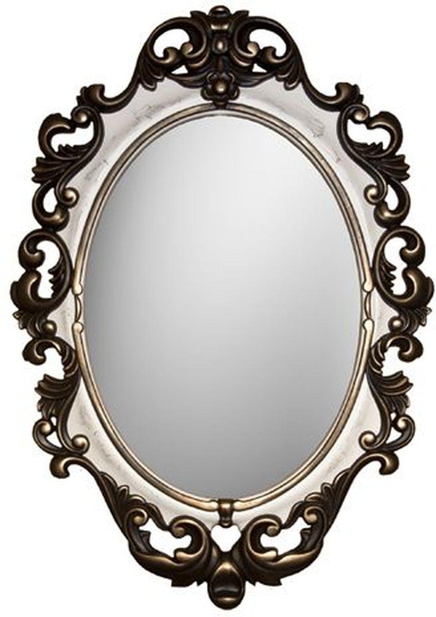 Зеркало VezzoLLi Винтаж, цвет: слоновая кость, 67 х 96 смFS-80418С обратной стороны зеркало снабжено двумя металлическими подвесами. Видимый размер зеркального полотна 60х43,5 см.