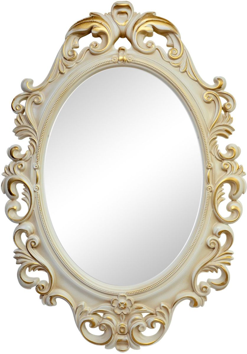 Зеркало VezzoLLi Винтаж, цвет: слоновая кость, 67 х 96 смFS-91909С обратной стороны зеркало снабжено двумя металлическими подвесами. Видимый размер зеркального полотна 60х43,5 см.