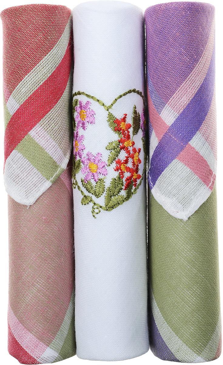 Платок носовой женский Zlata Korunka, цвет: красный, белый, фиолетовый, 3 шт. 40423-55. Размер 28 см х 28 смСерьги с подвескамиНебольшой женский носовой платок Zlata Korunka изготовлен из высококачественного натурального хлопка, благодаря чему приятен в использовании, хорошо стирается, не садится и отлично впитывает влагу. Практичный и изящный носовой платок будет незаменим в повседневной жизни любого современного человека. Такой платок послужит стильным аксессуаром и подчеркнет ваше превосходное чувство вкуса.В комплекте 3 платка.