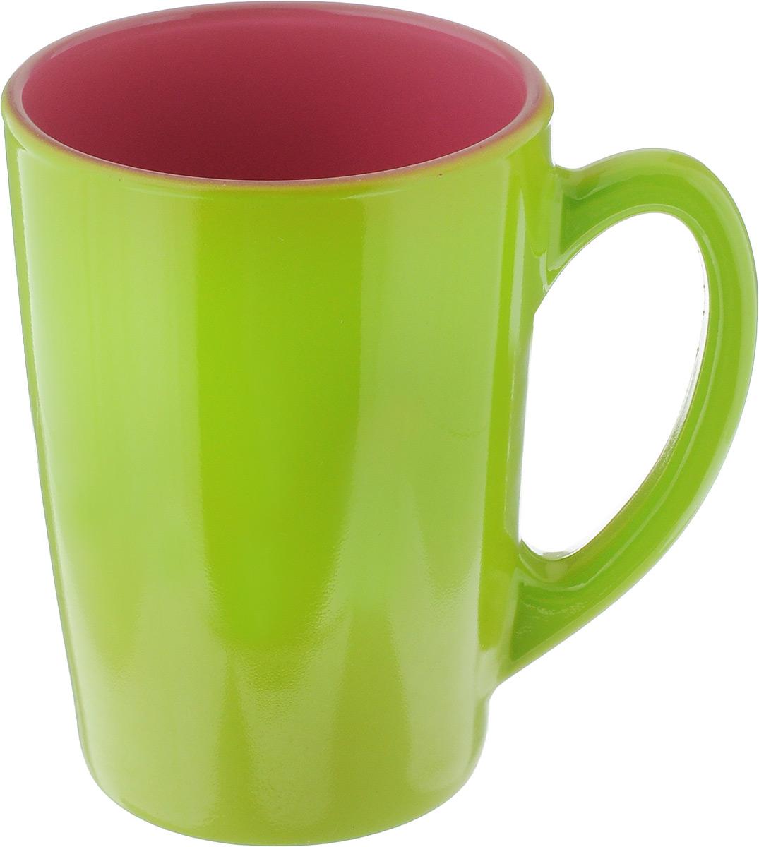 Кружка Luminarc Spring Break, цвет: салатовый, розовый, 320 мл. J3417-1FS-91909Кружка Luminarc Spring Break, изготовленная из ударопрочного стекла, прекрасно подойдет для горячих и холодных напитков. Она дополнит коллекцию вашей кухонной посуды и будет служить долгие годы. Можно использовать в микроволновой печи и мыть в посудомоечной машине. Диаметр кружки (по верхнему краю): 8 см.Высота стенки кружки: 11 см.