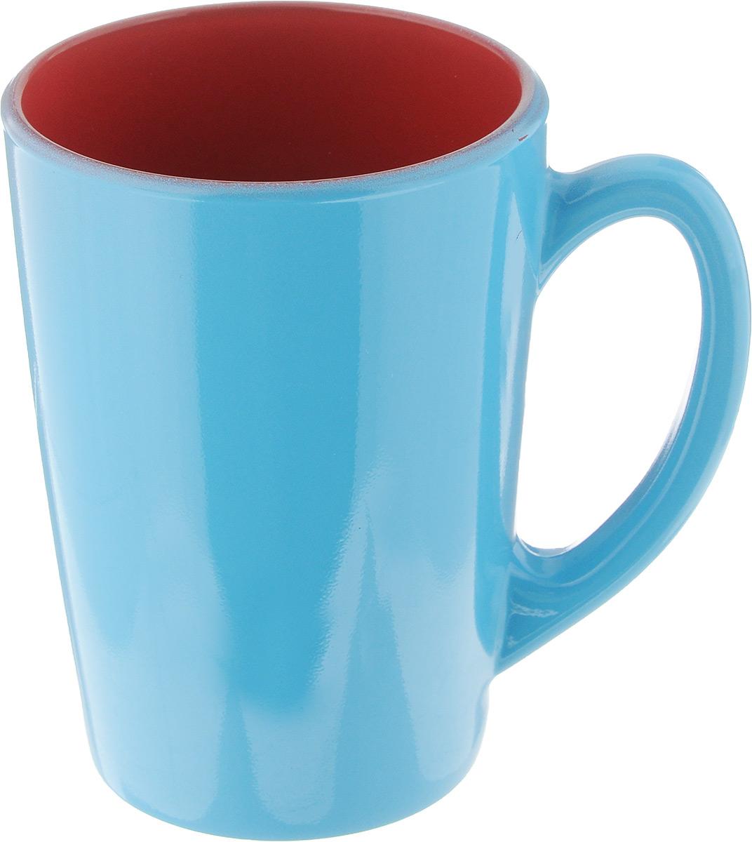 Кружка Luminarc Spring Break, цвет: голубой, красный, 320 мл. J3417-1115510Кружка Luminarc Spring Break, изготовленная из ударопрочного стекла, прекрасно подойдет для горячих и холодных напитков. Она дополнит коллекцию вашей кухонной посуды и будет служить долгие годы. Можно использовать в микроволновой печи и мыть в посудомоечной машине. Диаметр кружки (по верхнему краю): 8 см.Высота стенки кружки: 11 см.