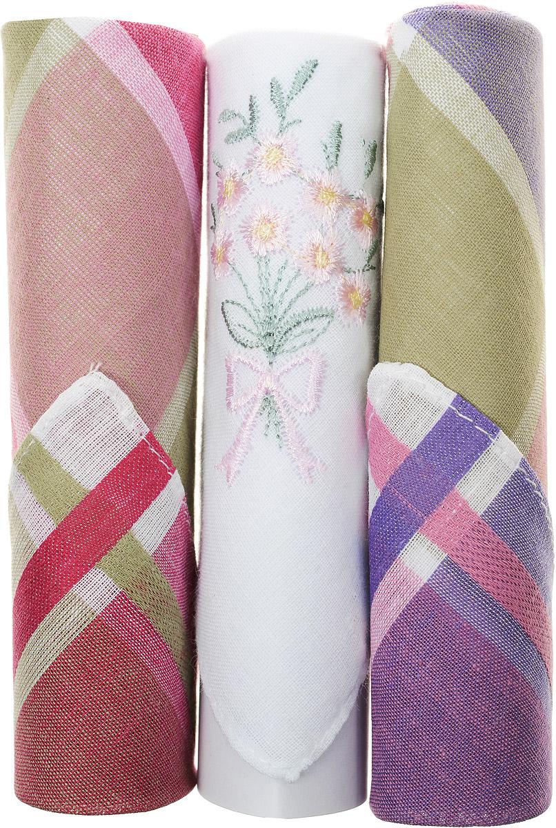 Платок носовой женский Zlata Korunka, цвет: красный, белый, зеленый, 3 шт. 40423-115. Размер 28 см х 28 см39864|Серьги с подвескамиНебольшой женский носовой платок Zlata Korunka изготовлен из высококачественного натурального хлопка, благодаря чему приятен в использовании, хорошо стирается, не садится и отлично впитывает влагу. Практичный и изящный носовой платок будет незаменим в повседневной жизни любого современного человека. Такой платок послужит стильным аксессуаром и подчеркнет ваше превосходное чувство вкуса.В комплекте 3 платка.