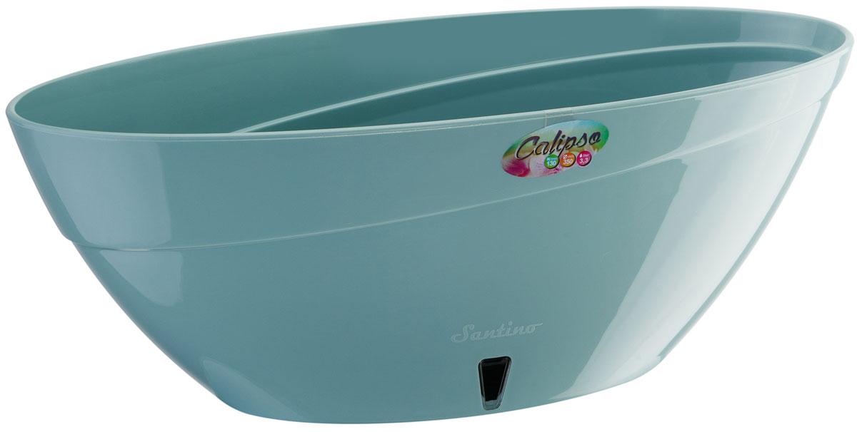 Кашпо Santino Calipso, с системой автополива, цвет: нефрит, 2 лC0042416Кашпо Santin Calipso снабжено дренажной системой, системой фитильного автополива, системой контроля уровня воды и состоят из кашпо и вазона-вкладыша. Изготовлено из пластика.Особенность: тарелочка или блюдце не нужны.Кашпо предназначено для любых растений или цветов. Цветочный дренаж – это система, которая позволяет выводить лишнюю влагу через корневую систему цветка и слой почвы. Растение – это живой организм, следовательно, ему необходимо дышать. В доступе к кислороду нуждаются все части растения: -листья; -корневая система. Если цветовод по какой-либо причине зальет цветок водой, то она буквально вытеснит из почвенного слоя все пузырьки кислорода. Анаэробная среда способствует развитию различного рода бактерий. Безвоздушная среда приводит к загниванию корневой системы, цветок в результате увядает. Суть работы дренажной системы заключается в том, чтобы осуществлять отвод лишней влаги от растения и давать возможность корневой системе дышать без проблем. Следовательно, каждому цветку необходимо: -иметь в основании цветочного горшочка хотя бы одно небольшое дренажное отверстие. Оно необходимо для того, чтобы через него выходила лишняя вода, плюс ко всему это отверстие дает возможность циркулировать воздух. -на самом дне горшка необходимо выложить слоем в 2-5 см (зависит от вида растения) дренаж.