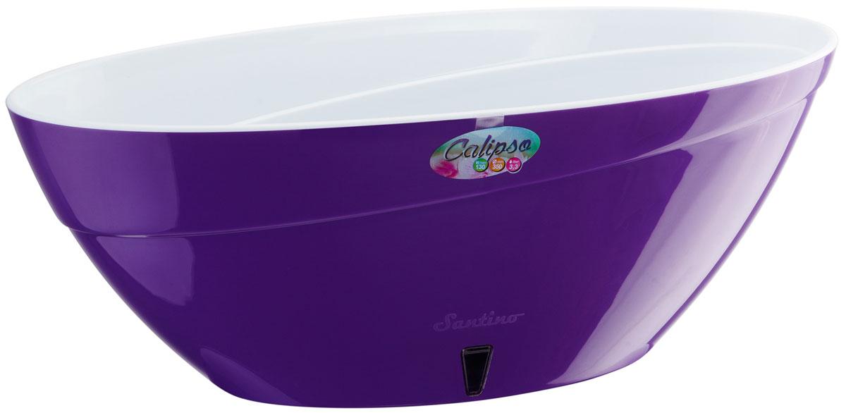 Кашпо Santino Calipso, с системой автополива, цвет: фиолетовый, белый, 3,3 лNN-603-LS-WКашпо Santin Calipso снабжено дренажной системой, системой фитильного автополива, системой контроля уровня воды и состоят из кашпо и вазона-вкладыша. Изготовлено из пластика.Особенность: тарелочка или блюдце не нужны.Кашпо предназначено для любых растений или цветов. Цветочный дренаж – это система, которая позволяет выводить лишнюю влагу через корневую систему цветка и слой почвы. Растение – это живой организм, следовательно, ему необходимо дышать. В доступе к кислороду нуждаются все части растения: -листья; -корневая система. Если цветовод по какой-либо причине зальет цветок водой, то она буквально вытеснит из почвенного слоя все пузырьки кислорода. Анаэробная среда способствует развитию различного рода бактерий. Безвоздушная среда приводит к загниванию корневой системы, цветок в результате увядает. Суть работы дренажной системы заключается в том, чтобы осуществлять отвод лишней влаги от растения и давать возможность корневой системе дышать без проблем. Следовательно, каждому цветку необходимо: -иметь в основании цветочного горшочка хотя бы одно небольшое дренажное отверстие. Оно необходимо для того, чтобы через него выходила лишняя вода, плюс ко всему это отверстие дает возможность циркулировать воздух. -на самом дне горшка необходимо выложить слоем в 2-5 см (зависит от вида растения) дренаж.