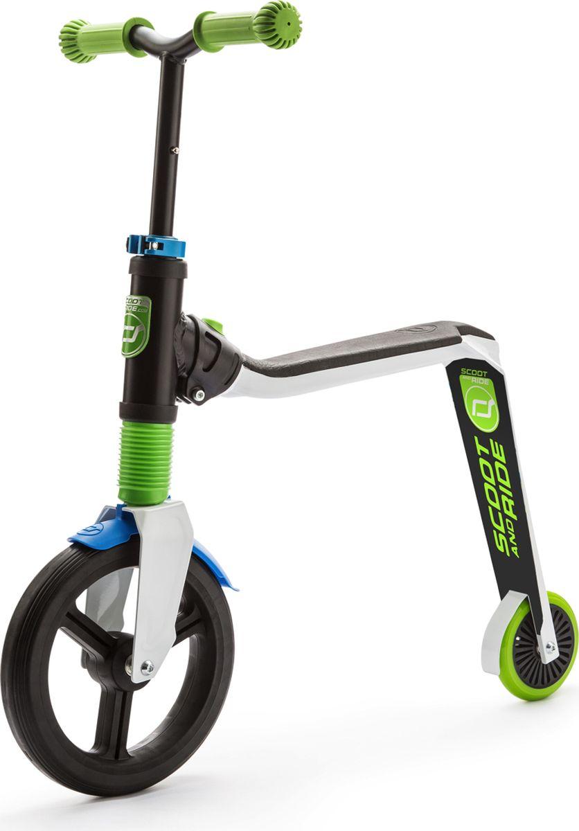 Scoot&Ride Беговел-самокат Highway Freak 2016 New цвет белый зеленый синий -  Беговелы