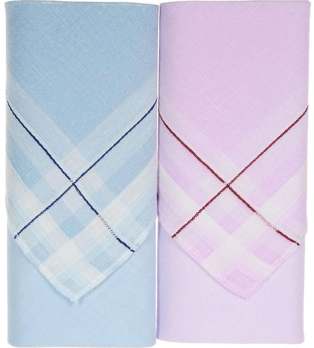 Платок носовой женский Zlata Korunka, цвет: розовый, голубой. 71225-7. Размер 34 х 34 см, 2 штСерьги с подвескамиНосовой платок Zlata Korunka изготовлен из высококачественного натурального хлопка, благодаря чему приятен в использовании, хорошо стирается, не садится и отлично впитывает влагу. Практичный и изящный носовой платок будет незаменим в повседневной жизни любого современного человека. Такой платок послужит стильным аксессуаром и подчеркнет ваше превосходное чувство вкуса.В комплекте 2 платка.