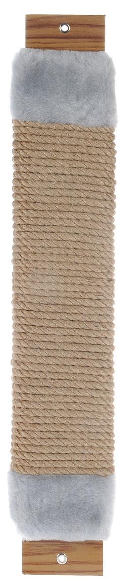 Когтеточка Неженка, джутовая, с кошачьей мятой, цвет: серый, бежевый, 51 х 10 х 3,5 см0120710Когтеточка Неженка поможет сохранить мебель и ковры в доме от когтей вашего любимца, стремящегося удовлетворить свою естественную потребность точить когти.Основание изделия изготовлено из ДСП и обтянуто прочной тканью, а столб для точения когтей обтянут джутом. Товар продуман в мельчайших деталях и, несомненно, понравится вашей кошке.Всем кошкам необходимо стачивать когти. Когтеточка - один из самых необходимых аксессуаров для кошки. Для приучения к когтеточке можно натереть ее сухой валерьянкой или кошачьей мятой. Когтеточка поможет вашему любимцу стачивать когти и при этом не портить вашу мебель.