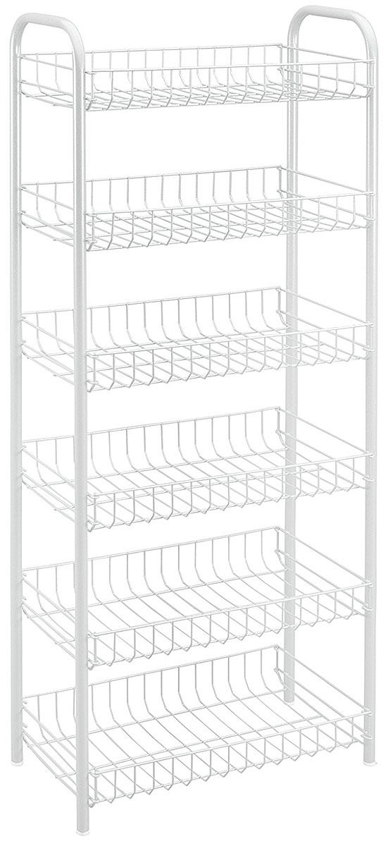 Этажерка Monaco, цвет: белый, 6 полок, 41 x 23 x 104 смBQ2800ТРЭтажерка Monaco выполнена из стали с политермическим покрытием. Состоит из шести полочек. Этажерка предназначена для использования в любых помещениях. Идеально подходит для использования на кухнях, ванных комнатах. Общий размер: 41 х 23 х 104 см.Размер полки: 37,5 х 21,5 х 5,5 см.
