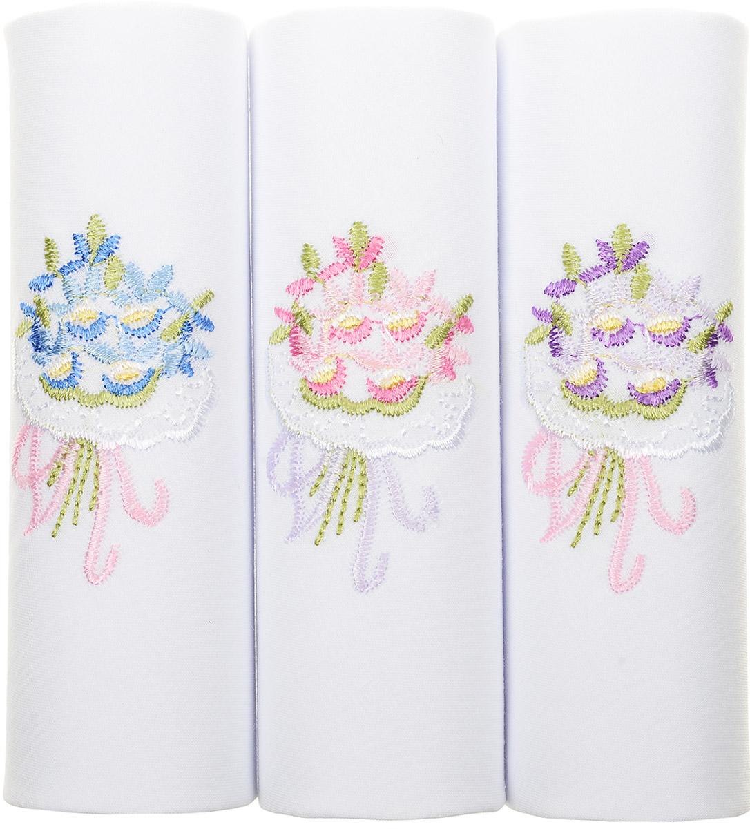 Платок носовой женский Zlata Korunka, цвет: белый, мультиколор, 3 шт. 40320-6. Размер 43 см х 43 смБрошь-кулонОригинальный женский носовой платок Zlata Korunka изготовлен из высококачественного натурального хлопка, благодаря чему приятен в использовании, хорошо стирается, не садится и отлично впитывает влагу. Практичный и изящный носовой платок будет незаменим в повседневной жизни любого современного человека. Такой платок послужит стильным аксессуаром и подчеркнет ваше превосходное чувство вкуса.