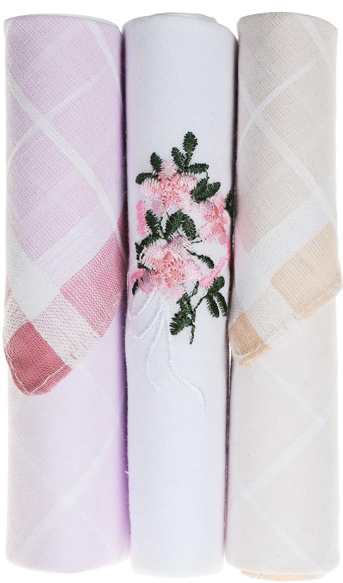 Платок носовой женский Zlata Korunka, цвет: розовый, белый, бежевый, 3 шт. 40423-33. Размер 28 см х 28 см39864|Серьги с подвескамиНебольшой женский носовой платок Zlata Korunka изготовлен из высококачественного натурального хлопка, благодаря чему приятен в использовании, хорошо стирается, не садится и отлично впитывает влагу. Практичный и изящный носовой платок будет незаменим в повседневной жизни любого современного человека. Такой платок послужит стильным аксессуаром и подчеркнет ваше превосходное чувство вкуса.В комплекте 3 платка.