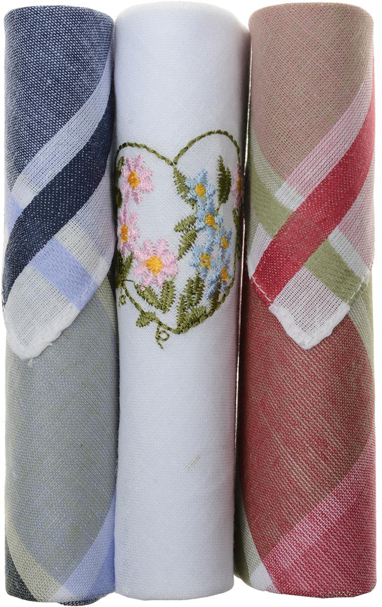 Платок носовой женский Zlata Korunka, цвет: темно-синий, белый, красный, 3 шт. 40423-56. Размер 28 см х 28 смАжурная брошьНебольшой женский носовой платок Zlata Korunka изготовлен из высококачественного натурального хлопка, благодаря чему приятен в использовании, хорошо стирается, не садится и отлично впитывает влагу. Практичный и изящный носовой платок будет незаменим в повседневной жизни любого современного человека. Такой платок послужит стильным аксессуаром и подчеркнет ваше превосходное чувство вкуса.В комплекте 3 платка.