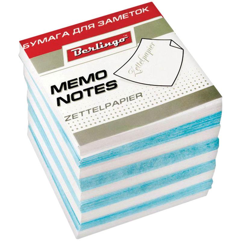 Berlingo Бумага для заметок Standard 9 х 9 х 9 см цвет белый голубой 1000 листов368109Бумага для заметок Berlingo Standard - это удобное и практичное решение для быстрой записи информации дома или на работе.Подходит для бокса Berlingo ZP7608.