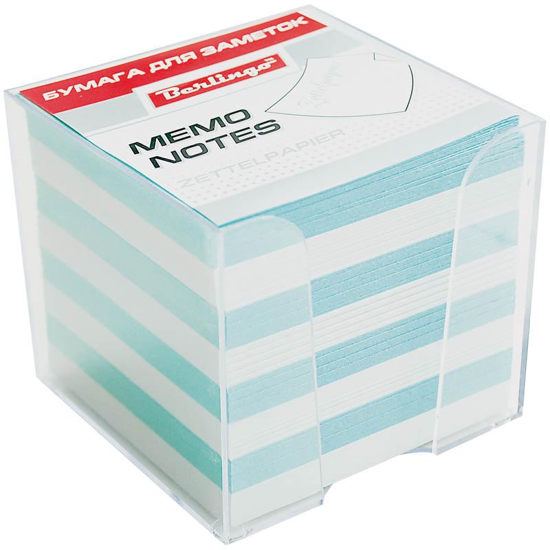 Berlingo Бумага для заметок Standard 9 х 9 х 9 см в пластиковой подставке цвет белый голубой 1000 листов62037Бумага для заметок с липким краем Berlingo Standard - это удобное и практичное решение для быстрой записи информации дома или на работе.Блок бумаги поставляется в удобном пластиковом боксе.