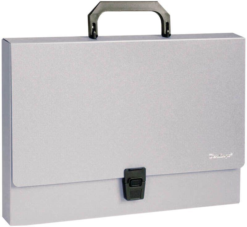 Berlingo Папка-портфель Standard цвет серыйFS-36052На замке. Укрепленная ручка. Материал - жесткий пластик. Стильный дизайн и популярные офисные цвета. Индивидуальная упаковка в пакет.