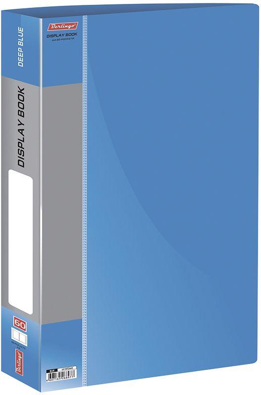 Berlingo Папка Standard с 60 вкладышами цвет синийAKm_04109Функциональная папка Standard с прозрачными вкладышами удобна для хранения и демонстрации документов А4. На корешке имеется сменная этикетка для маркировки.Изготовлена из плотного пластика. Ширина корешка - 21 мм.
