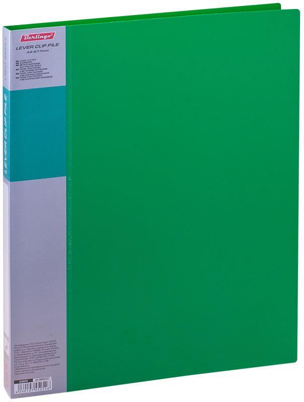 Berlingo Папка с зажимом Standard цвет зеленыйMM2337Папка с зажимом Standard позволяет хранить и переносить документы, защищает их от пыли. Металлический зажим надежно фиксирует документы, не повреждая их. Изготовлена из плотного яркого пластика. Классические офисные цвета в ассортименте. В корешок папки вставляется лист для описания и названия, внутри папки имеется кармашек для мелких бумаг.