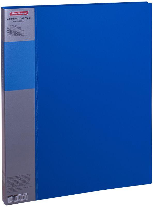 Berlingo Папка с зажимом Standard цвет синийFS-00103Папка с зажимом Standard позволяет хранить и переносить документы, защищает их от пыли. Металлический зажим надежно фиксирует документы, не повреждая их. Изготовлена из плотного яркого пластика. Классические офисные цвета в ассортименте. В корешок папки вставляется лист для описания и названия, внутри папки имеется кармашек для мелких бумаг.