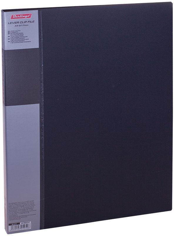 Berlingo Папка с зажимом Standard цвет черный2010440Папка с зажимом Standard позволяет хранить и переносить документы, защищает их от пыли. Металлический зажим надежно фиксирует документы, не повреждая их. Изготовлена из плотного яркого пластика. Классические офисные цвета в ассортименте. В корешок папки вставляется лист для описания и названия, внутри папки имеется кармашек для мелких бумаг.