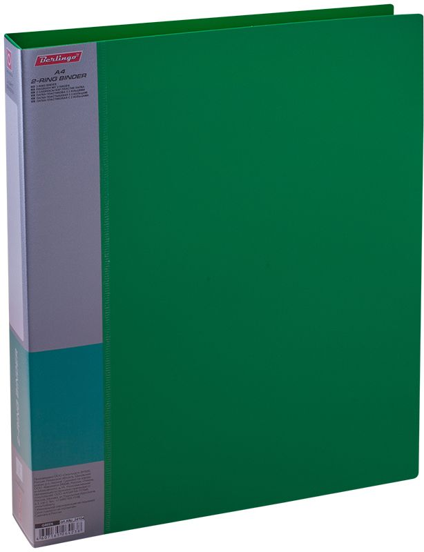 Berlingo Папка на 2-х кольцах Standard цвет зеленый ABp_24104C13S041944Папка на 2-х кольцах Standard для хранения перфорированных документов изготовлена из пластика. Кольцевой механизм надежно держит документы и файлы. В корешок папки вставляется лист для описания и названия. Классические офисные цвета в ассортименте.