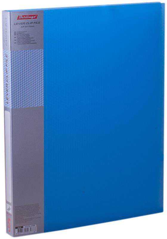 Berlingo Папка с зажимом Diamond цвет синийMB2326Папка с зажимом Diamond позволяет хранить и переносить документы, защищает их от пыли. Металлический зажим надежно фиксирует документы, не повреждая их. Изготовлена из плотного полупрозрачного пластика. Классические офисные цвета в ассортименте. Обложка папки оформлена легким голографическим принтом в кубик. В корешок папки вставляется лист для описания и названия.