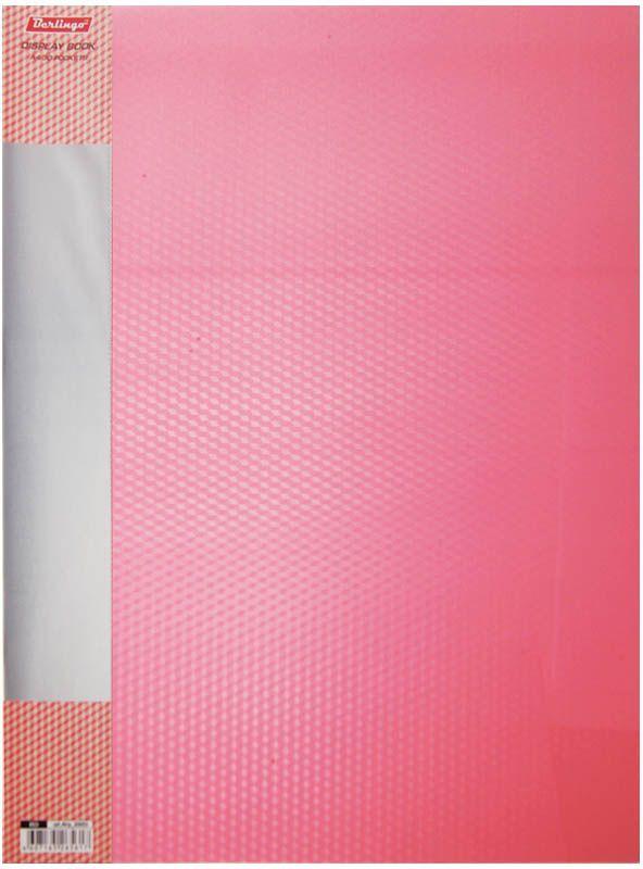 Berlingo Папка Diamond с 30 вкладышами цвет красныйFS-36054Функциональная папка с прозрачными вкладышами удобна для хранения и демонстрации документов А4. На папке предусмотрена сменная этикетка на корешке для маркировки. Изготовлена из фактурного полупрозрачного пластика.Ширина корешка - 17 мм.
